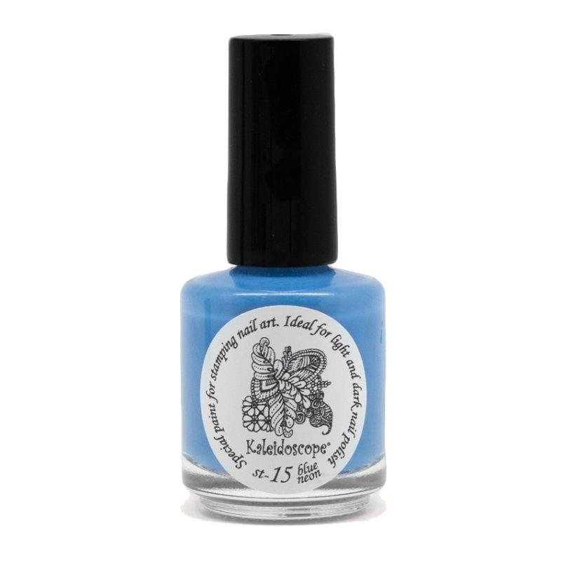 El Corazon, Лак для стемпинга St-15 (blue neon) 15млЛаки для стемпинга El Corazon<br>Плотный лак для стемпинга сильнопигментированный.<br>