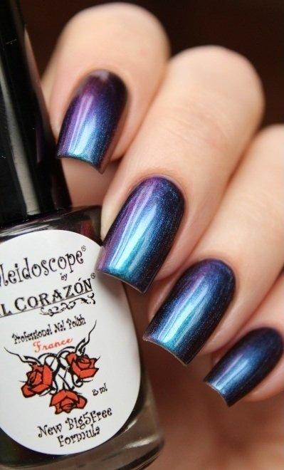 El Corazon, Kaleidoscope № Lm-01 ЛакофеяЛаки Kaleidoscope<br>Лак для ногтей хамелеон переливается от синего к фиолетовому цвету, плотный. Объем 8 мл.<br>