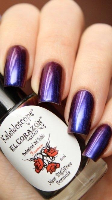 El Corazon, Kaleidoscope № Lm-04 ЛакосфераЛаки Kaleidoscope<br>Лак для ногтей хамелеон переливается отсине-фиолетового к малиновому цвету, плотный. Объем 8 мл.<br>