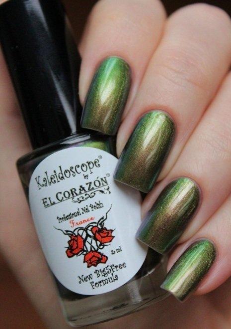 El Corazon, Kaleidoscope № Lm-05 ЛакоманияЛаки Kaleidoscope<br>Лак для ногтей хамелеон переливается отизумрудного к бронзовому дуохрому, плотный. Объем 8 мл.<br>