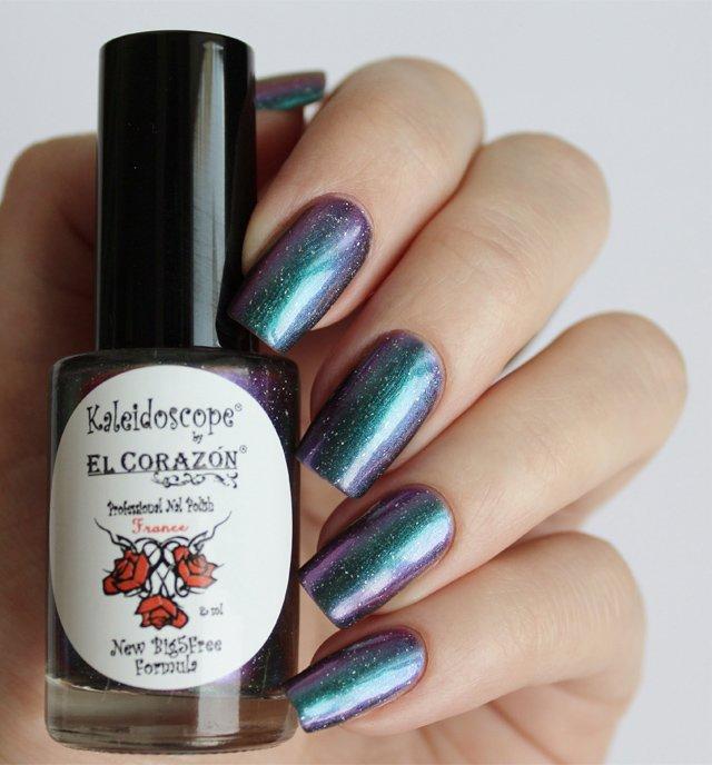 El Corazon, Kaleidoscope № Mw-02 СкорпионЛаки Kaleidoscope<br>Лак для ногтей хамелеон переливается отбирюзового к сиреневому цвету, плотный. Объем 8 мл.<br>