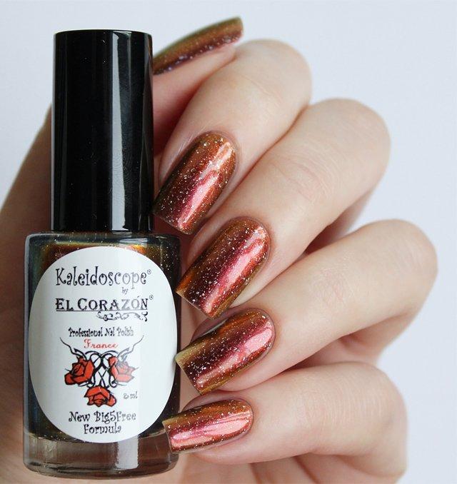 El Corazon, Kaleidoscope № Mw-03 ЛисичкаЛаки Kaleidoscope<br>Лак для ногтей хамелеон переливается отмедного к золотистому цвету, плотный. Объем 8 мл.<br>