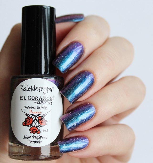 El Corazon, Kaleidoscope № Mw-04 КассиопеяЛаки Kaleidoscope<br>Лак для ногтей хамелеон переливается от сине-голубого к сиреневому цвету, плотный. Объем 8 мл.<br>