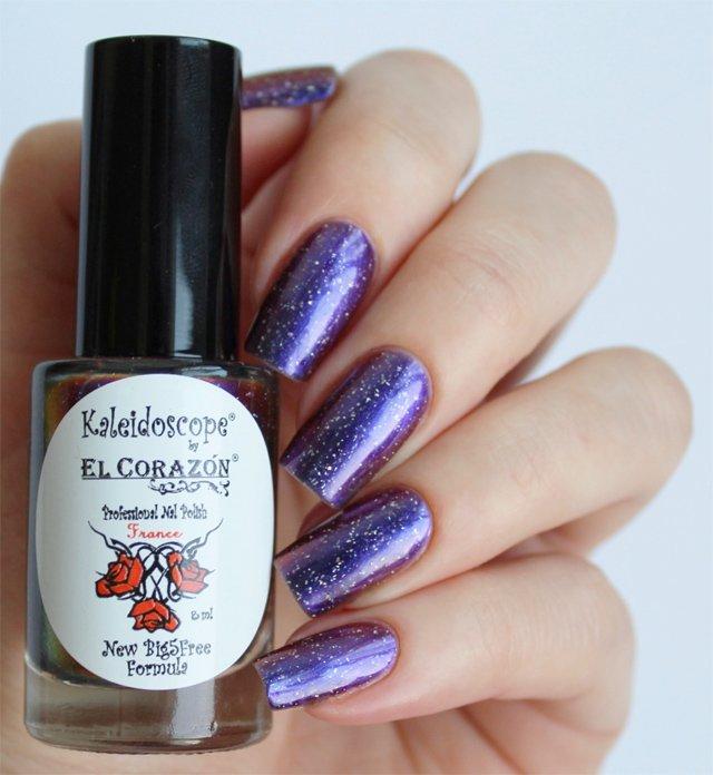El Corazon, Kaleidoscope № Mw-05 ЦефеяЛаки Kaleidoscope<br>Лак для ногтей хамелеон переливается от светло-сиреневого к темному, плотный. Объем 8 мл.<br>