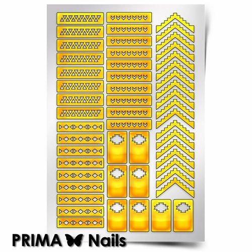 PrimaNails, Трафарет для дизайна ногтей - Ацтеки и Майя 1PrimaNails<br>Самоклеющиеся трафареты<br>
