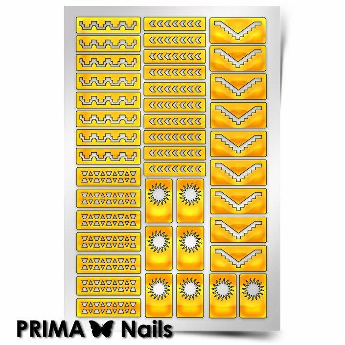 PrimaNails, Трафарет для дизайна ногтей - Ацтеки и Майя 2