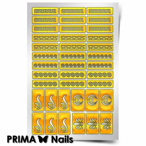 PrimaNails, Трафарет для дизайна ногтей - ГрецияPrimaNails<br>Самоклеющиеся трафареты<br>