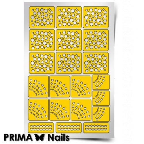 PrimaNails, Трафарет для дизайна ногтей - Принт ГорошекPrimaNails<br>Самоклеющиеся трафареты<br>