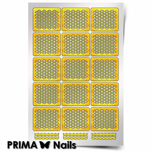 PrimaNails, Трафарет для дизайна ногтей - СеточкаPrimaNails<br>Самоклеющиеся трафареты<br>