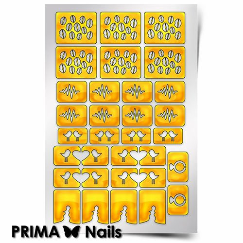 PrimaNails, Трафарет для дизайна ногтей - Стрела Амура