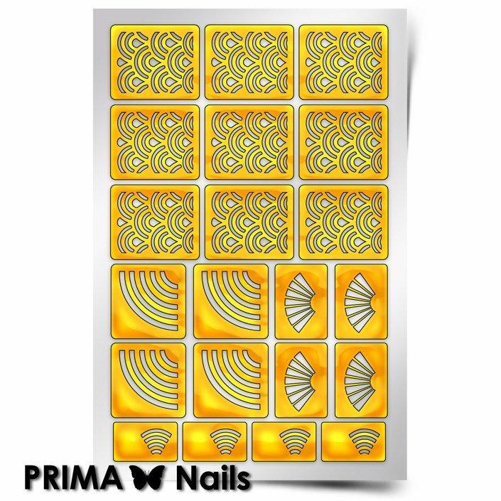 PrimaNails, Трафарет для дизайна ногтей - ЯпонияPrimaNails<br>Самоклеющиеся трафареты<br>