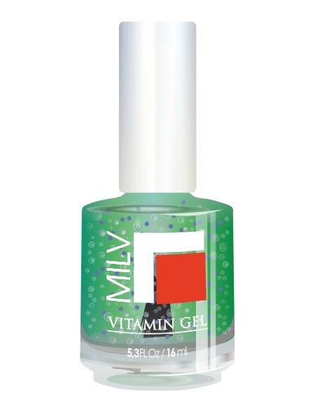 Milv, Vitamin Gel - Гель для роста ногтей (Спелое яблоко), 16 мл (MILV)