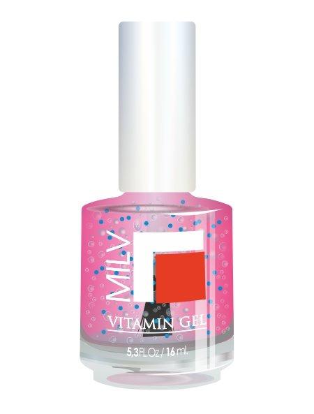 Milv, Vitamin Gel - Гель для роста ногтей (Барби), 16 млЛечебные и укрепляющие средства Milv<br>Гель для роста ногтей «Барби»<br>