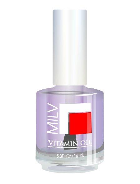 Milv, Vitamin Oil - Витаминное масло (Лаванда), 16 млМасла для кутикулы<br>Витаминное масло «Лаванда»<br>