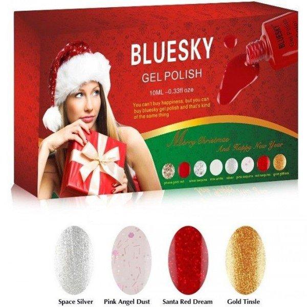 """Bluesky Шеллак Kit 2 - Новогодний наборBluesky 10 мл<br>""""Искрящийся праздник"""" - новогодний подарочный набор Bluesky Shellac Kit 2<br>"""