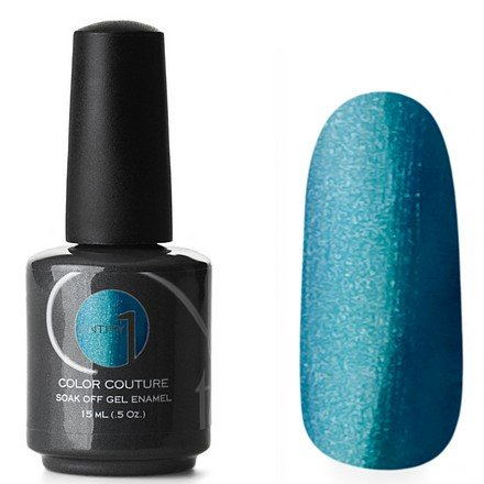 Entity One Color Couture, цвет №5182 Electric Runaway 15 mlColor Couture Entity One<br>Гель-лак бирюзово-синий с серебристыми микроблестками, плотный<br>