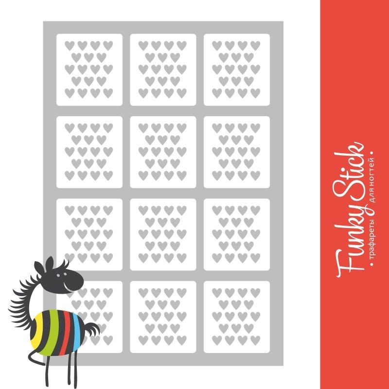 Funky Stick, Трафарет для дизайна ногтей Love №2Funky Stick<br>Самоклеющиеся трафареты<br>