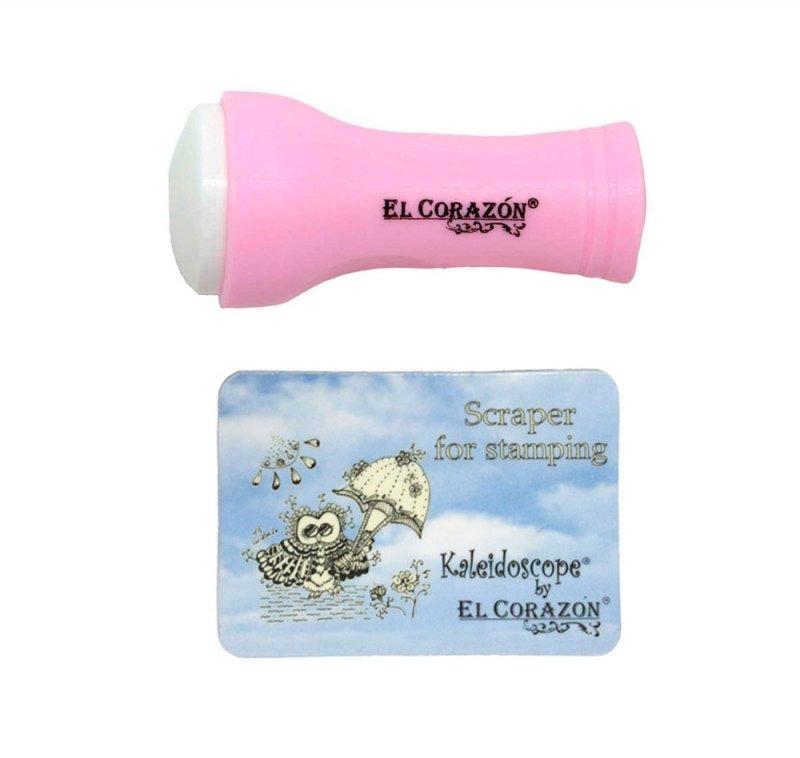 El Corazon, Штамп и скрапер (розовый)Инструменты и Аксессуары El Corazon<br>Штамп + скрапер<br>