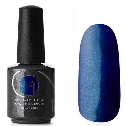 Entity One Color Couture, цвет №2976 Denim Diva 15 mlColor Couture Entity One<br>Гель-лак холодного фиолетово-синего оттенка с бирюзовыми микроблестками, плотный<br>