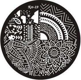 El Corazon, Диск для стемпинга №kst-19Диски для стемпинга El Corazon<br>Печатная формаkst-19<br>