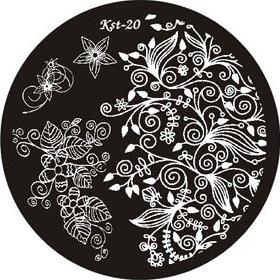 El Corazon, Диск для стемпинга №kst-20Диски для стемпинга El Corazon<br>Печатная формаkst-20<br>