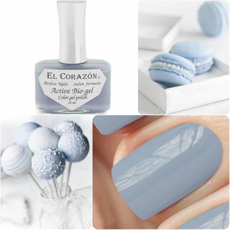 El Corazon Active Bio-gel Color gel polish Cream № 423-296Лечебный биогель El Corazon<br>Био-гелькремовый серо-голубой, без блесток и перламутра, плотный. Объем 16 ml.<br>