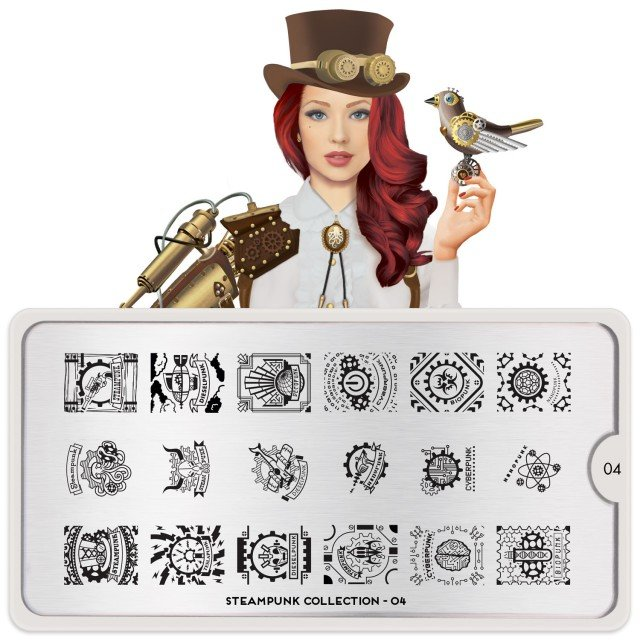 Пластина MoYou London Steampunk 04Пластины для стемпинга MoYou London<br>Коллекция Steampunk<br>