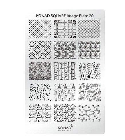 Konad, диск для стемпинга Square Image Plate 20Диски для стемпинга Konad<br>Новогодние изображения, с помощью которых вы сможете создать великолепные рисунки на ногтях, которые очень сложно создать вручную.<br>