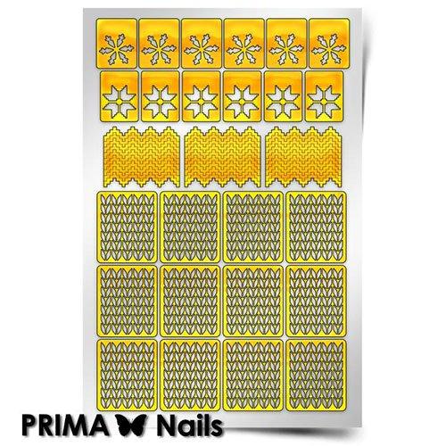 PrimaNails, Трафарет для дизайна ногтей - ЗимаPrimaNails<br>Самоклеющиеся трафареты<br>