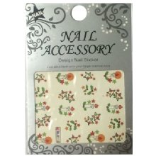 Nail Accessory, Водный стикер J&Z (New Year) - BLE113