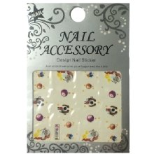 Nail Accessory, Водный стикер J&Z (New Year) - BLE116