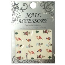 Nail Accessory, Водный стикер J&Z (New Year) - BLE117