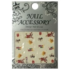 Nail Accessory, Водный стикер J&Z (New Year) - BLE115