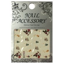 Nail Accessory, Водный стикер J&Z (New Year) - BLE119