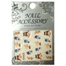 Nail Accessory, Водный стикер J&Z (New Year) - BLE122