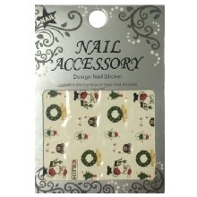 Nail Accessory, Водный стикер J&Z (New Year) - BLE124