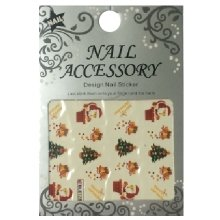 Nail Accessory, Водный стикер J&Z (New Year) - BLE126