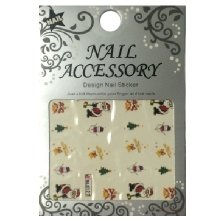 Nail Accessory, Водный стикер J&Z (New Year) - BLE127