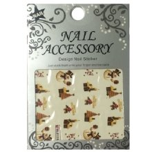 Nail Accessory, Водный стикер J&Z (New Year) - BLE128