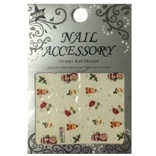 Nail Accessory, Водный стикер J&Z (New Year) - BLE130