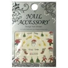 Nail Accessory, Водный стикер J&Z (New Year) - BLE2325