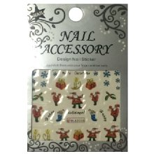 Nail Accessory, Водный стикер J&Z (New Year) - BLE2326