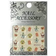 Nail Accessory, Водный стикер J&Z (New Year) - BLE2327