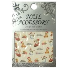 Nail Accessory, Водный стикер J&Z (New Year) - BLE2328