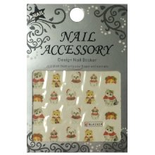 Nail Accessory, Водный стикер J&Z (New Year) - BLE2329
