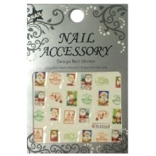 Nail Accessory, Водный стикер J&Z (New Year) - BLE2330