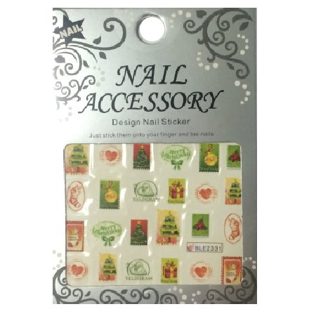 Nail Accessory, Водный стикер J&amp;Z (New Year) - BLE2331Водный стикер Nail Accessory<br><br>