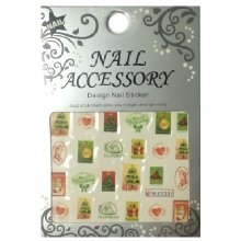 Nail Accessory, Водный стикер J&Z (New Year) - BLE2331