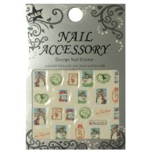 Nail Accessory, Водный стикер J&Z (New Year) - BLE2332