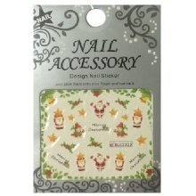 Nail Accessory, Водный стикер J&Z (New Year) - BLE2333